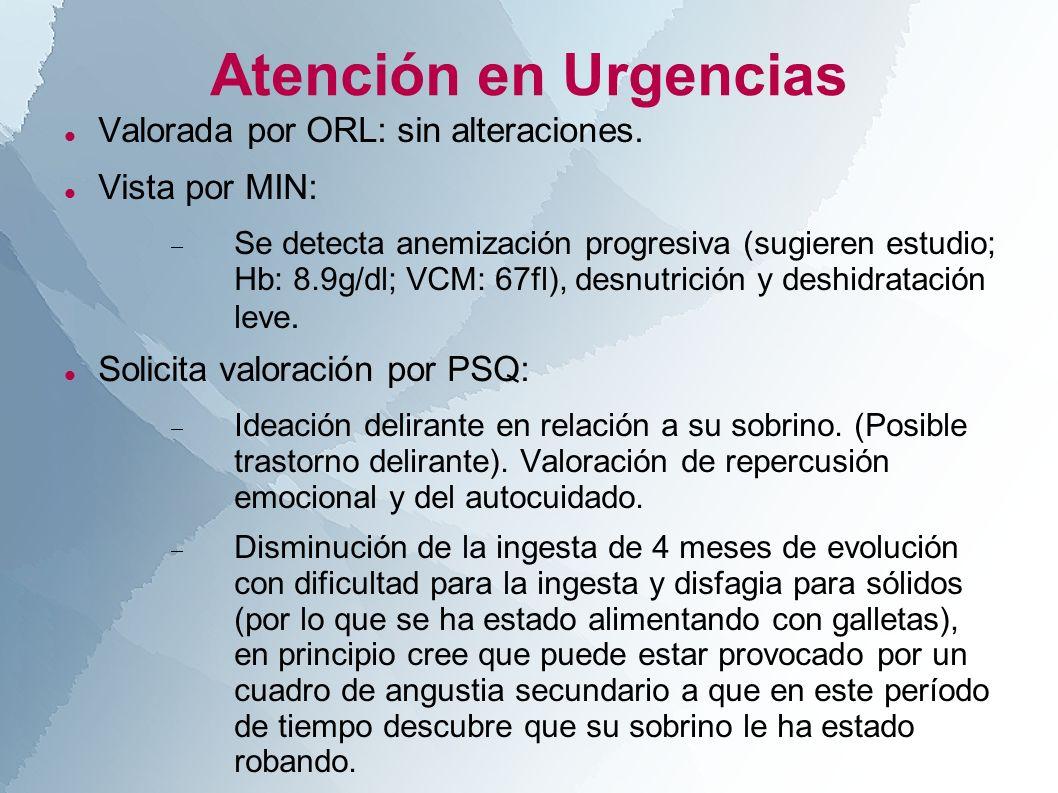Atención en Urgencias Valorada por ORL: sin alteraciones.