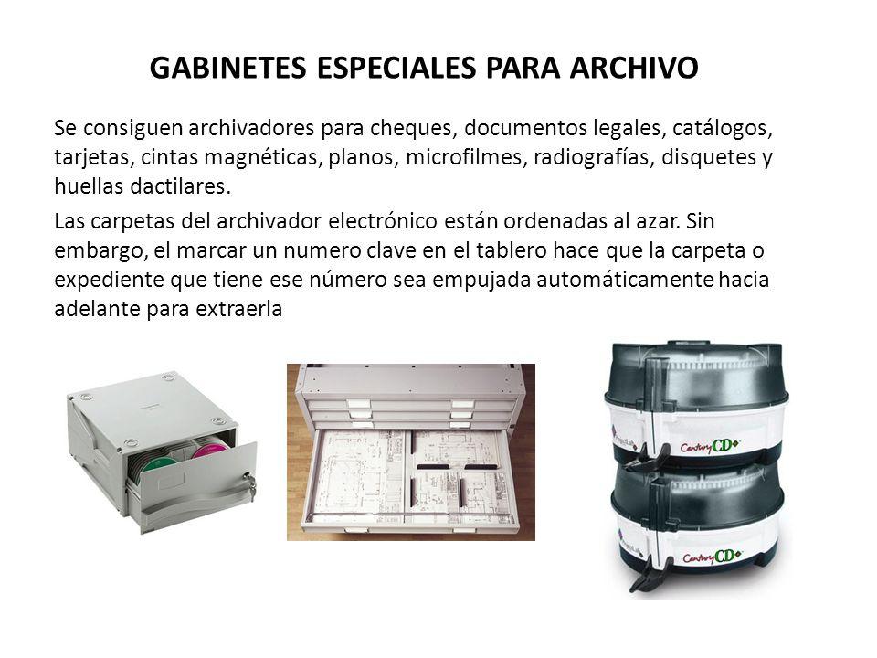 GABINETES ESPECIALES PARA ARCHIVO