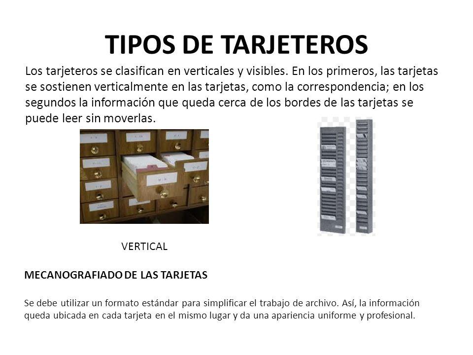 TIPOS DE TARJETEROS