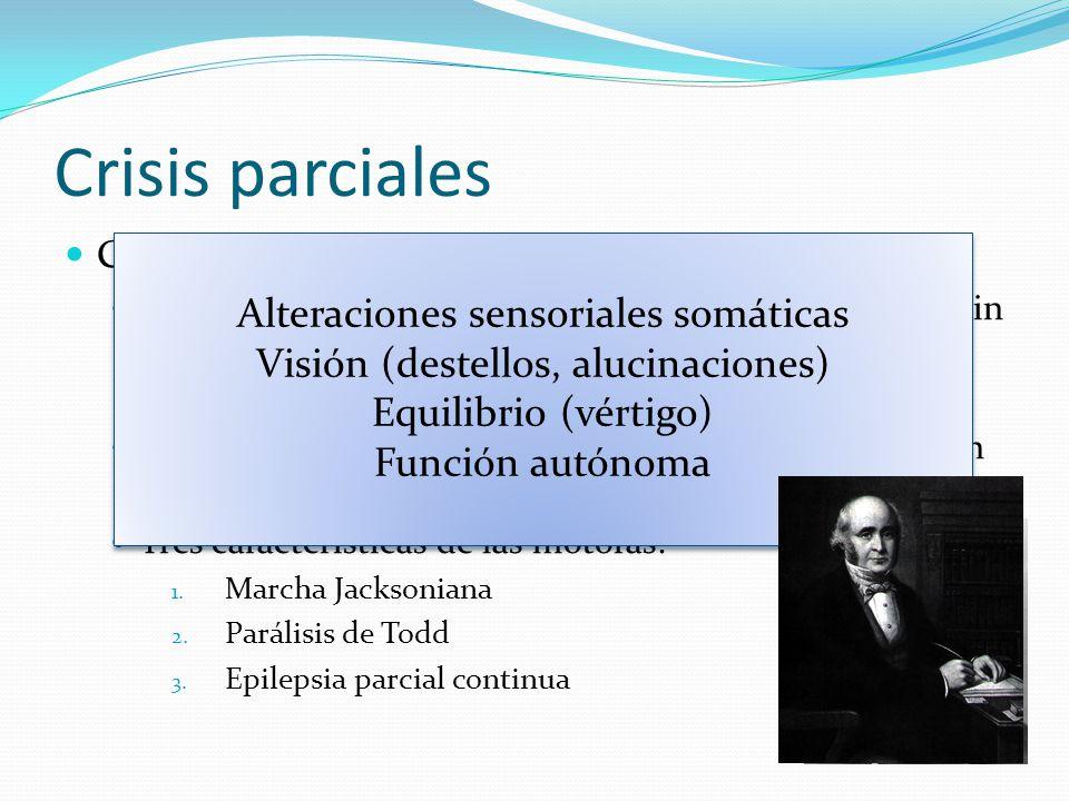 Crisis parciales Alteraciones sensoriales somáticas