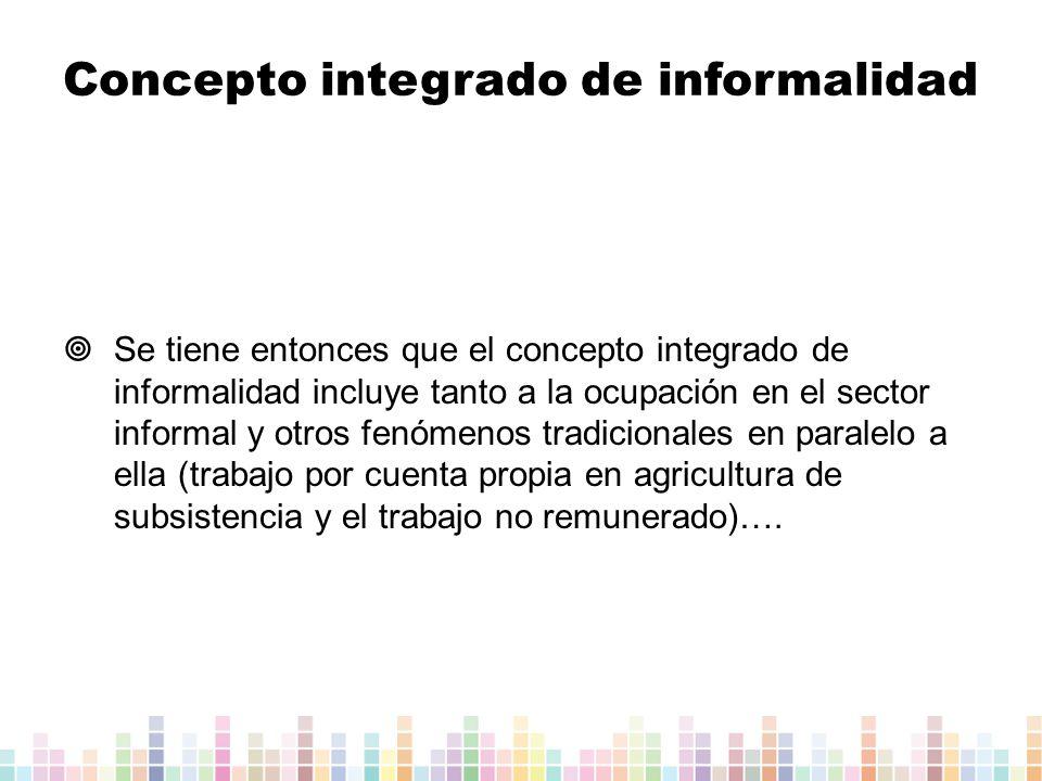 Concepto integrado de informalidad