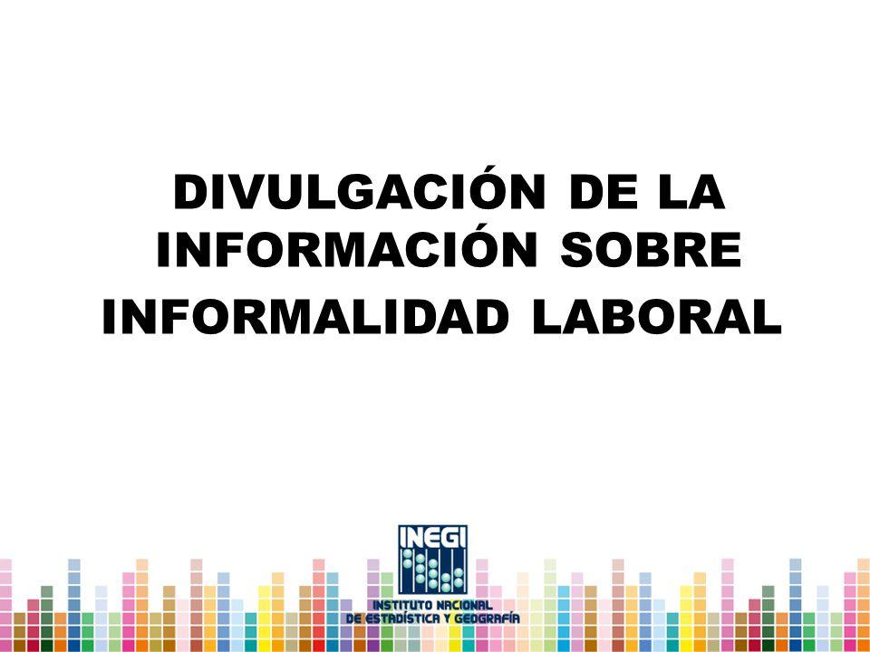 Divulgación de la información sobre informalidad laboral