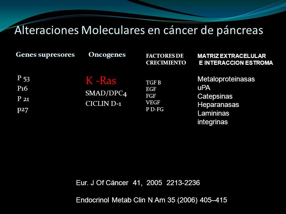 Alteraciones Moleculares en cáncer de páncreas