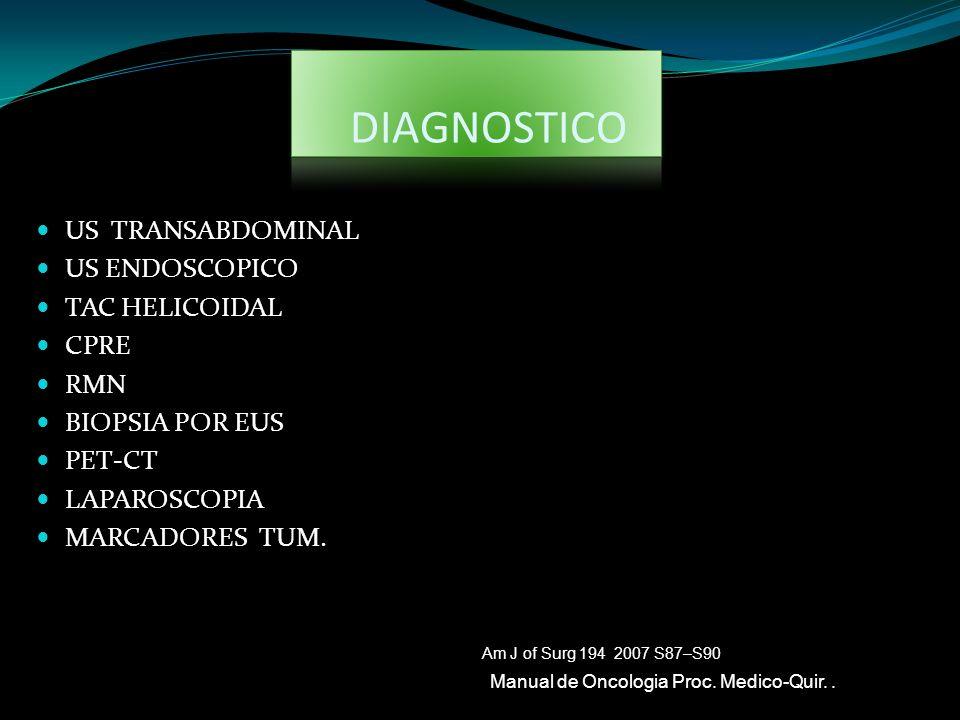 DIAGNOSTICO US TRANSABDOMINAL US ENDOSCOPICO TAC HELICOIDAL CPRE RMN
