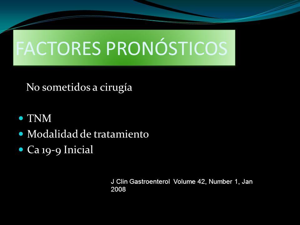 FACTORES PRONÓSTICOS No sometidos a cirugía TNM