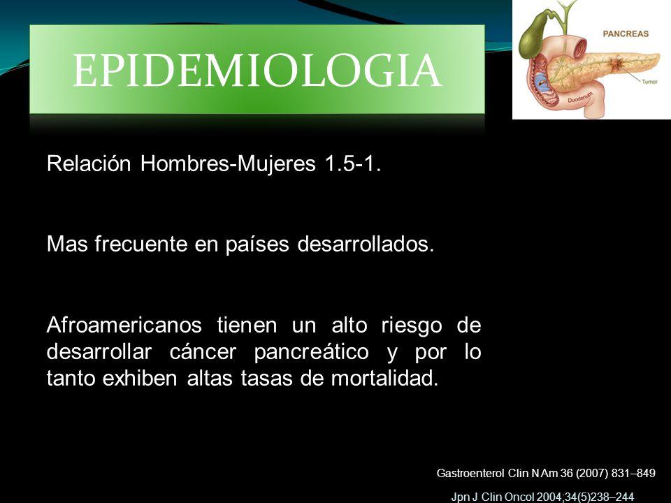 EPIDEMIOLOGIA Relación Hombres-Mujeres 1.5-1.