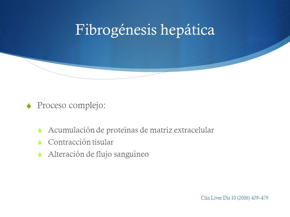 Fibrogénesis hepática