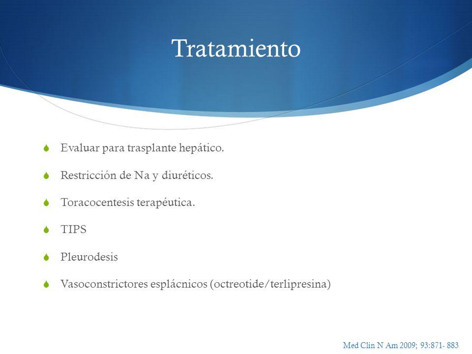 Tratamiento Evaluar para trasplante hepático.