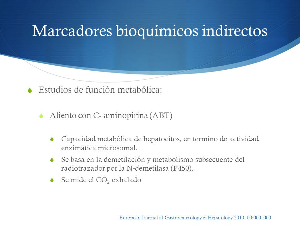 Marcadores bioquímicos indirectos