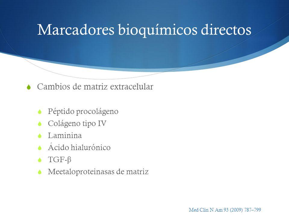 Marcadores bioquímicos directos