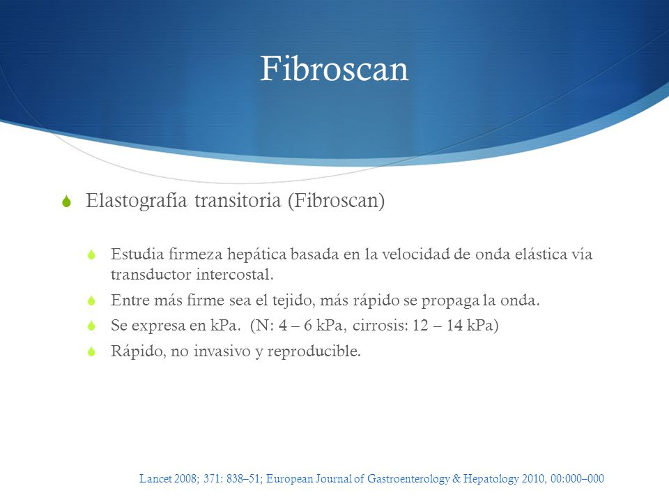 Fibroscan Elastografía transitoria (Fibroscan)