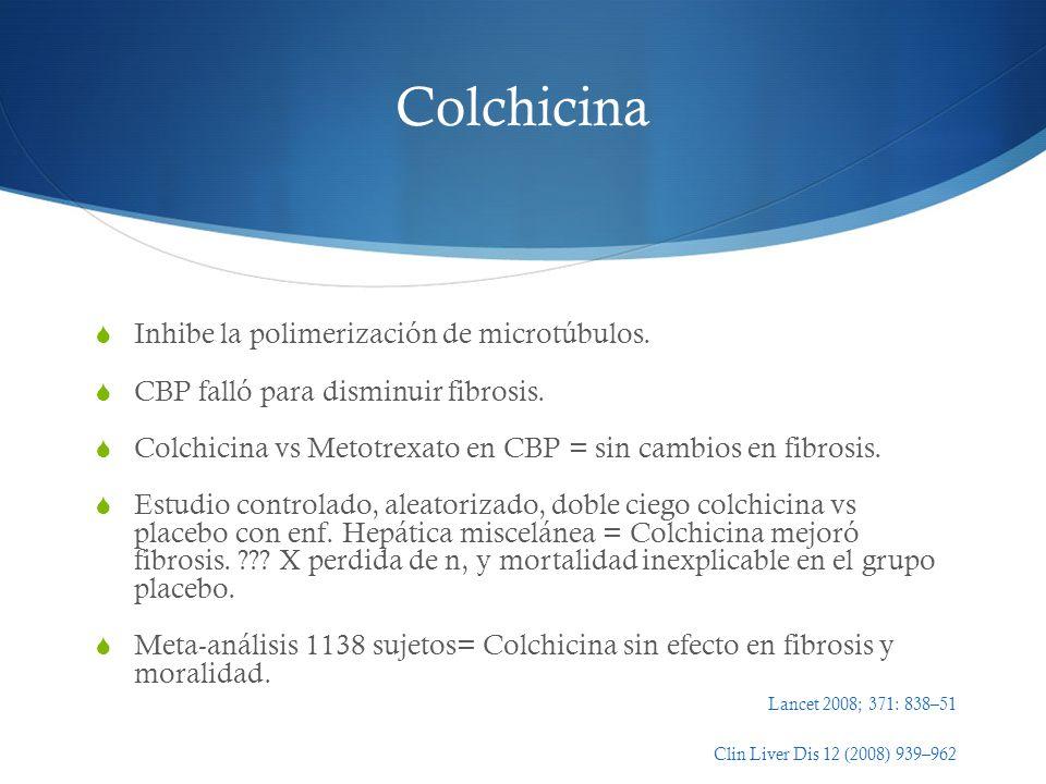 Colchicina Inhibe la polimerización de microtúbulos.