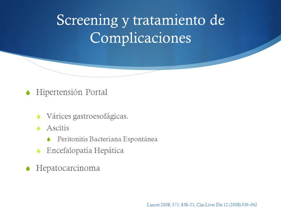 Screening y tratamiento de Complicaciones