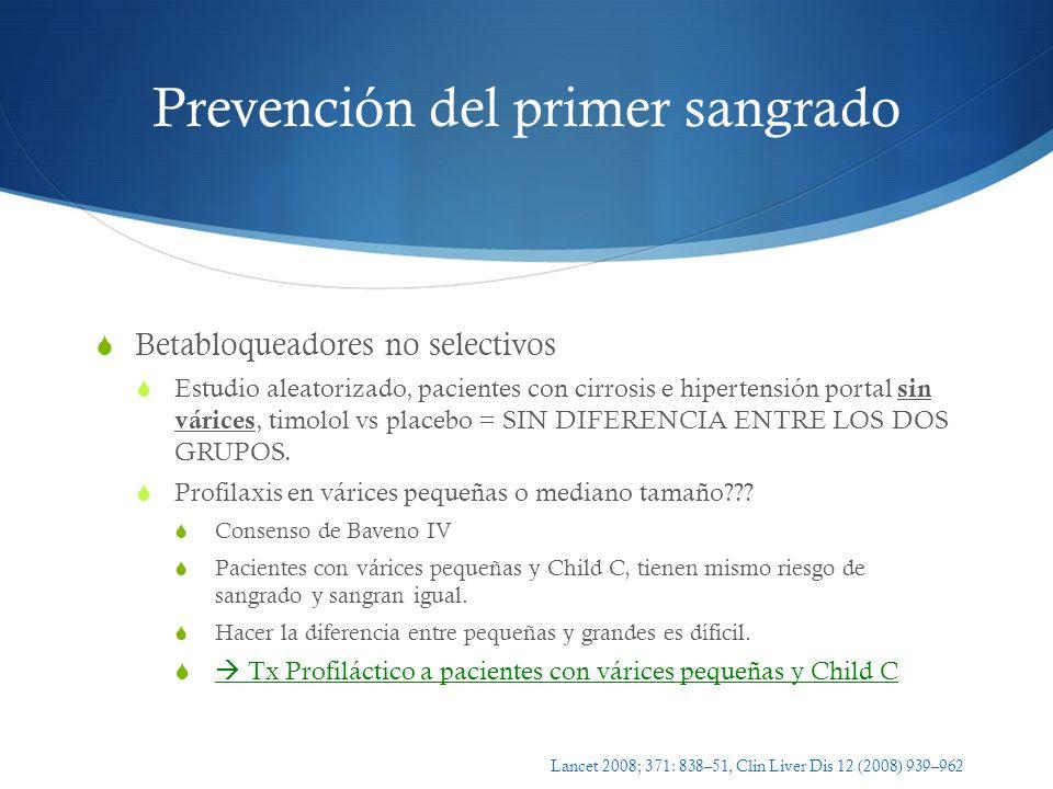 Prevención del primer sangrado