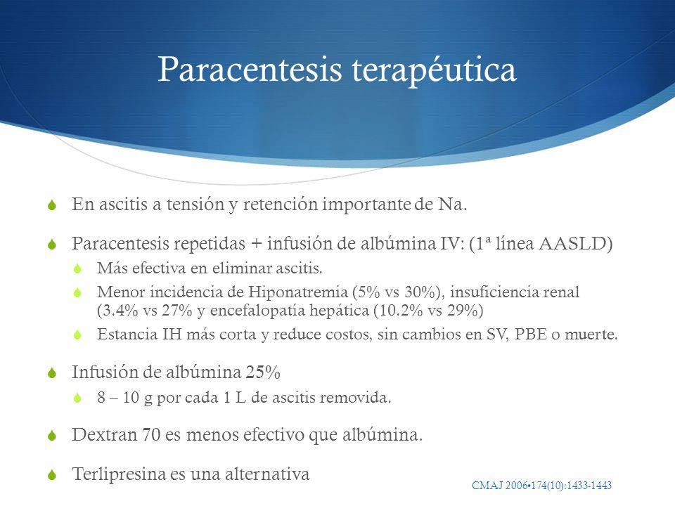 Paracentesis terapéutica