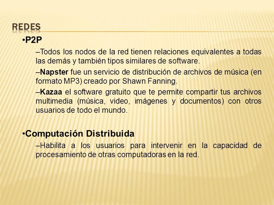 Redes P2P Computación Distribuida