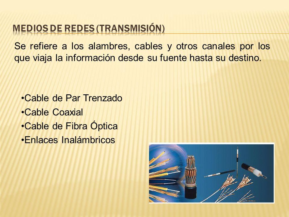 Medios de Redes (transmisión)