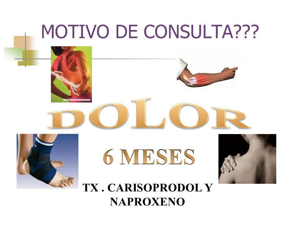 TX . CARISOPRODOL Y NAPROXENO