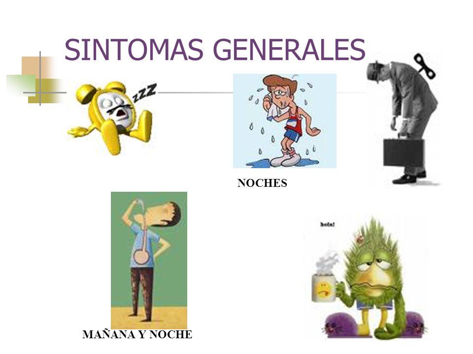 SINTOMAS GENERALES NOCHES MAÑANA Y NOCHE