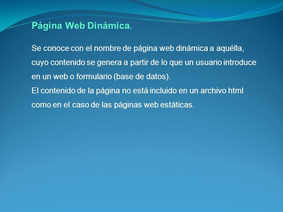 Página Web Dinámica.