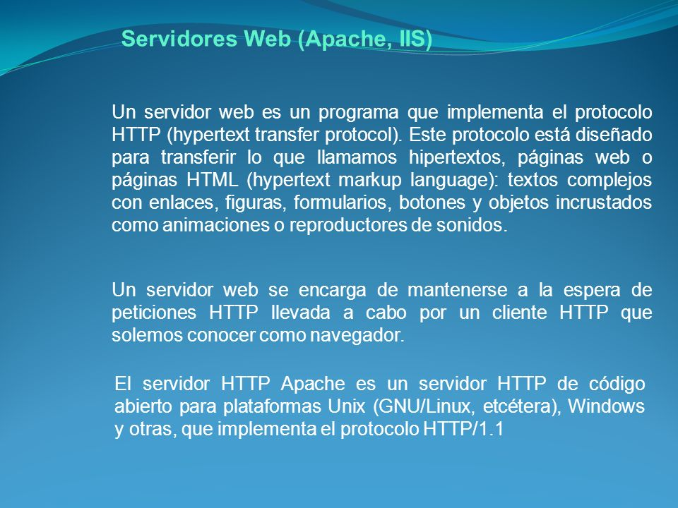 Servidores Web (Apache, IIS)