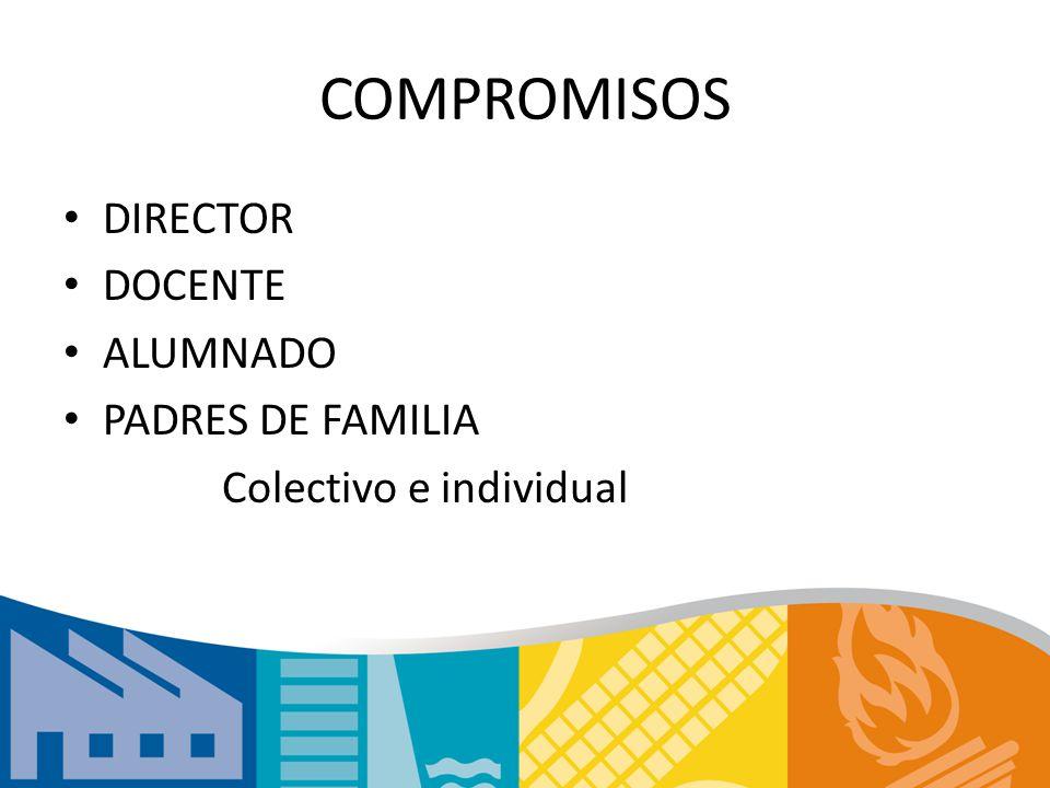 COMPROMISOS DIRECTOR DOCENTE ALUMNADO PADRES DE FAMILIA