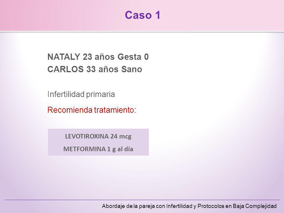 Caso 1 NATALY 23 años Gesta 0 CARLOS 33 años Sano