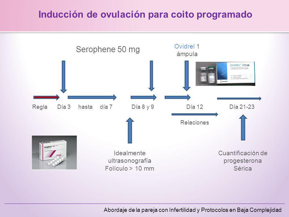Inducción de ovulación para coito programado