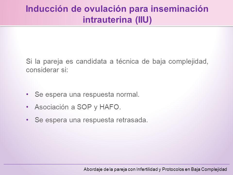 Inducción de ovulación para inseminación intrauterina (IIU)
