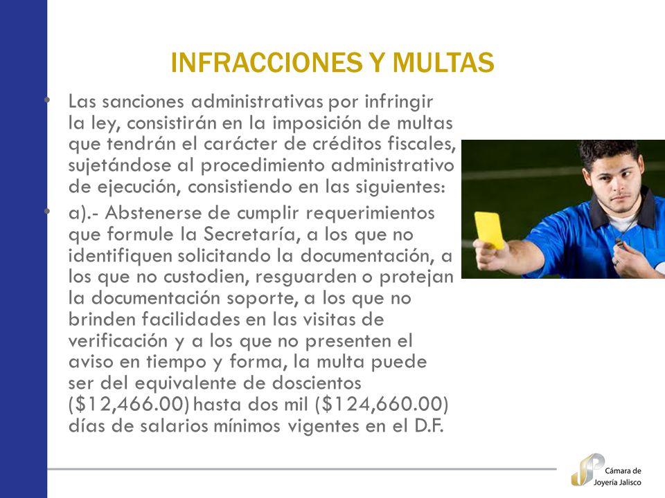 INFRACCIONES Y MULTAS