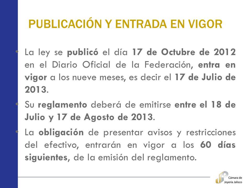 PUBLICACIÓN Y ENTRADA EN VIGOR