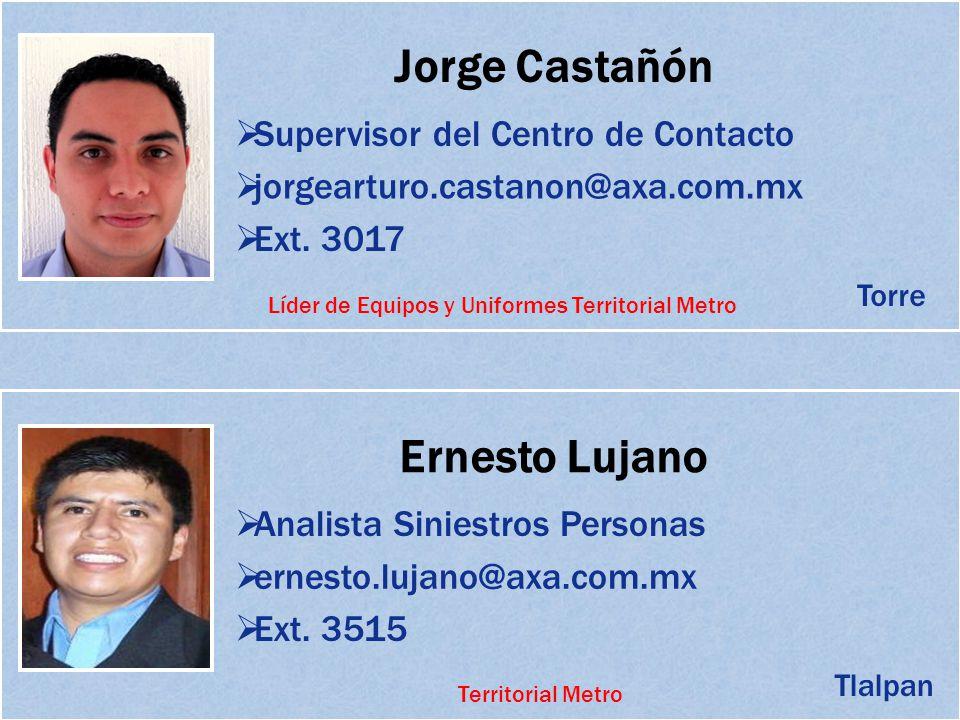 Líder de Equipos y Uniformes Territorial Metro