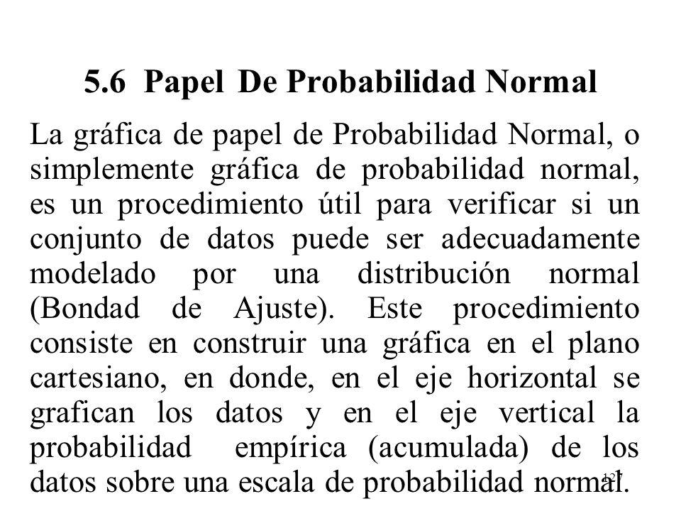 5.6 Papel De Probabilidad Normal
