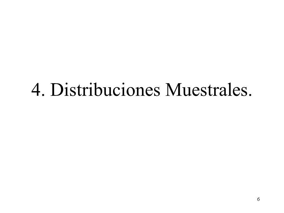 4. Distribuciones Muestrales.