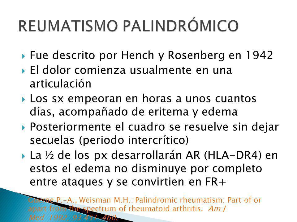 REUMATISMO PALINDRÓMICO