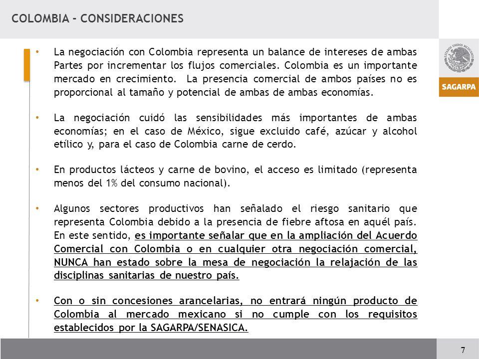COLOMBIA - CONSIDERACIONES