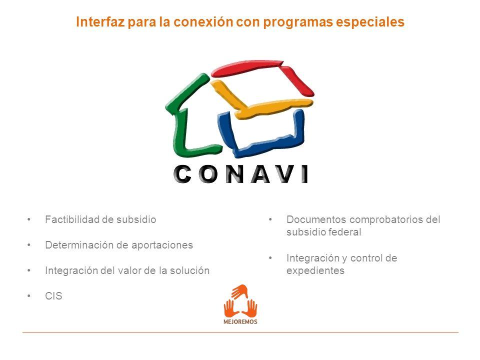 Interfaz para la conexión con programas especiales
