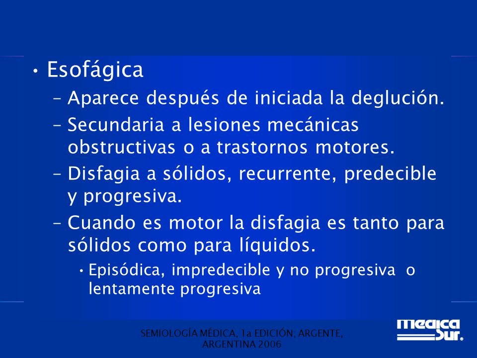SEMIOLOGÍA MÉDICA, 1a EDICIÓN; ARGENTE, ARGENTINA 2006