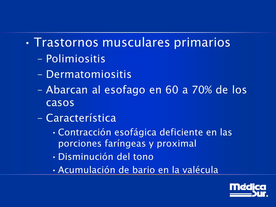 Trastornos musculares primarios