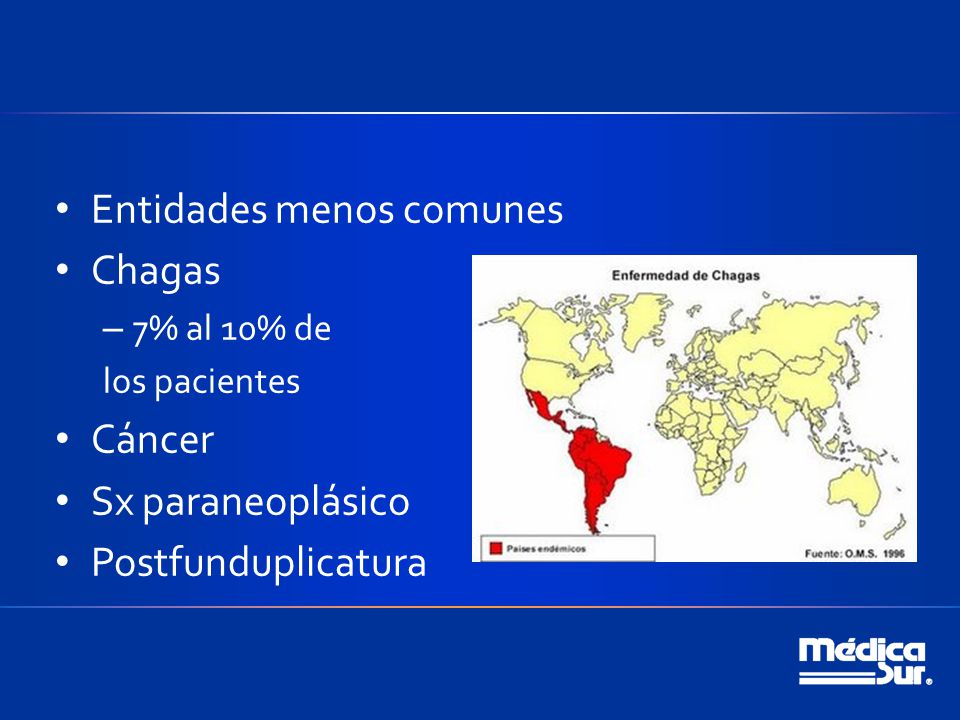 Entidades menos comunes Chagas