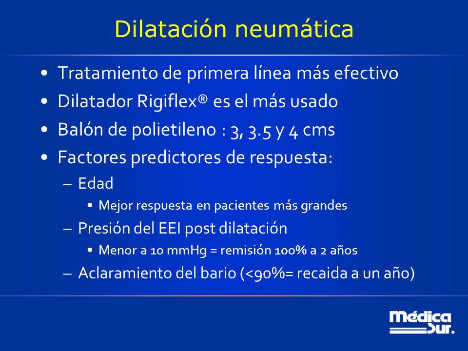 Dilatación neumática Tratamiento de primera línea más efectivo
