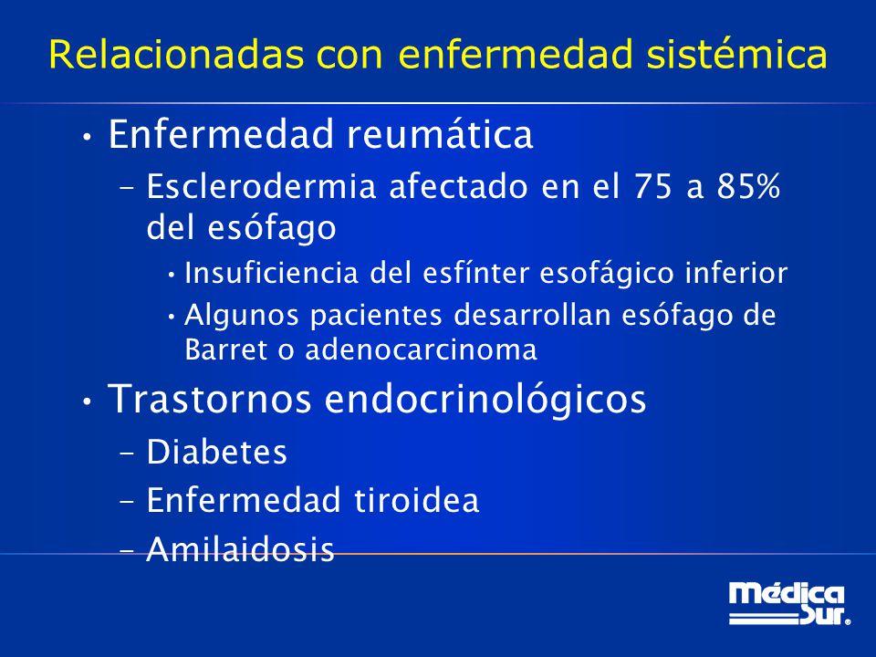 Relacionadas con enfermedad sistémica