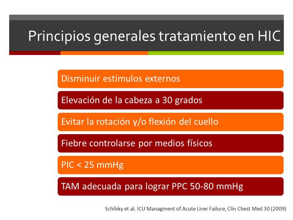 Principios generales tratamiento en HIC