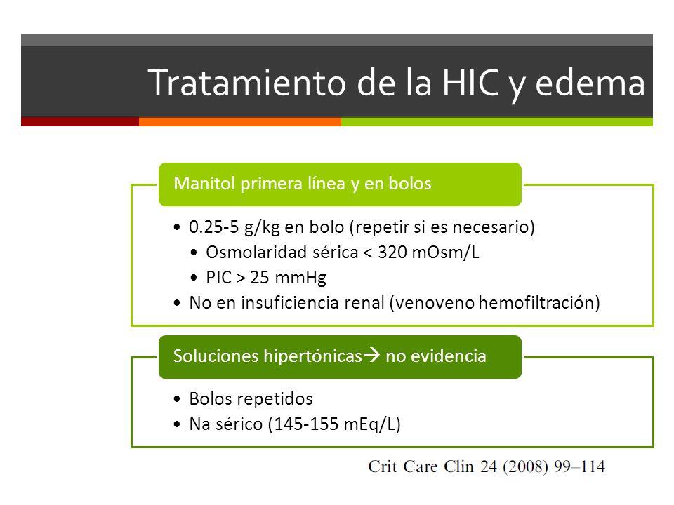 Tratamiento de la HIC y edema