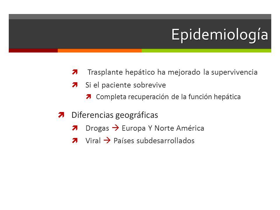 Epidemiología Diferencias geográficas