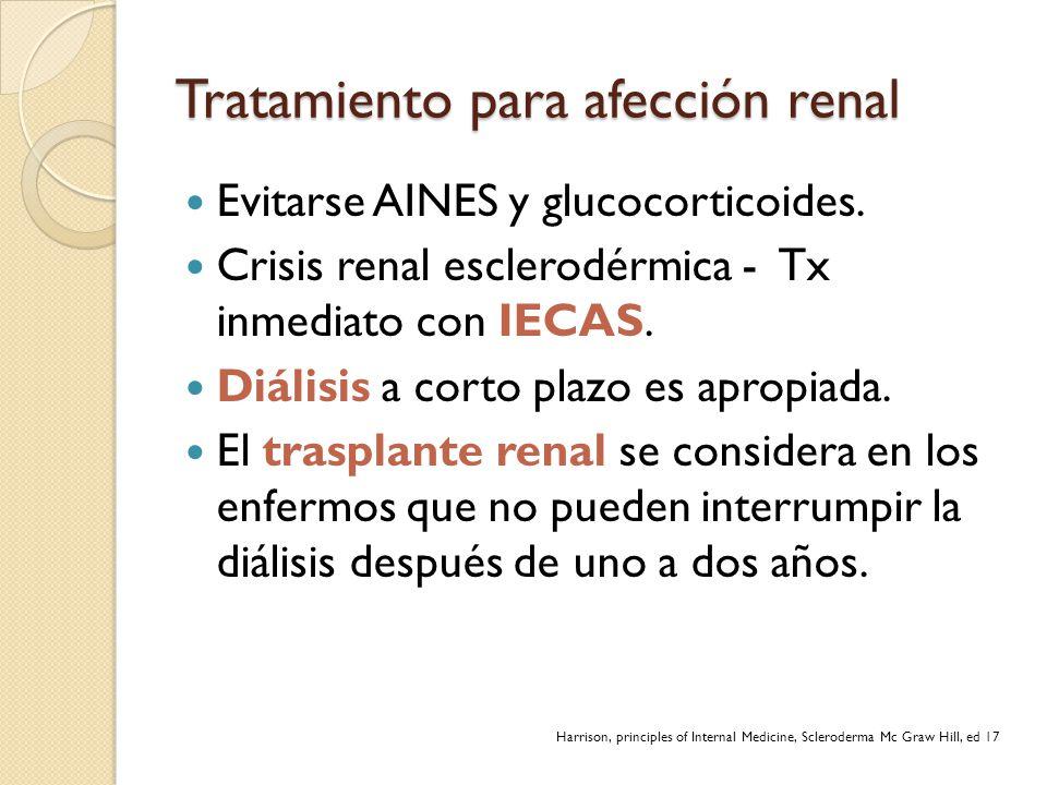 Tratamiento para afección renal