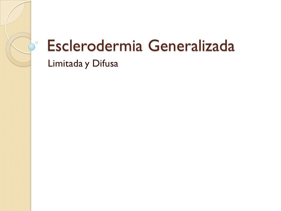 Esclerodermia Generalizada