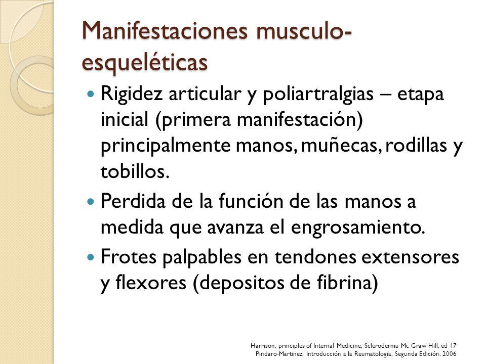 Manifestaciones musculo-esqueléticas