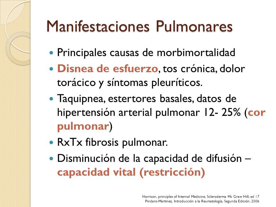 Manifestaciones Pulmonares