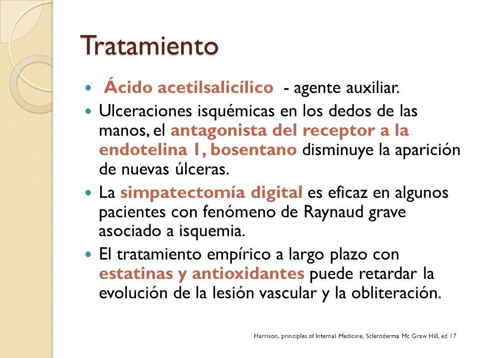 Tratamiento Ácido acetilsalicílico - agente auxiliar.